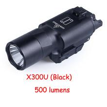 Пистолет-фонарик для оружия, тактический фонарь, светодиодный, для охоты, 20 мм, Пикатинни, X300U, X300(Китай)