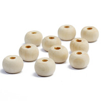 Factory direct sale cheap price large hole natural color round wood beads