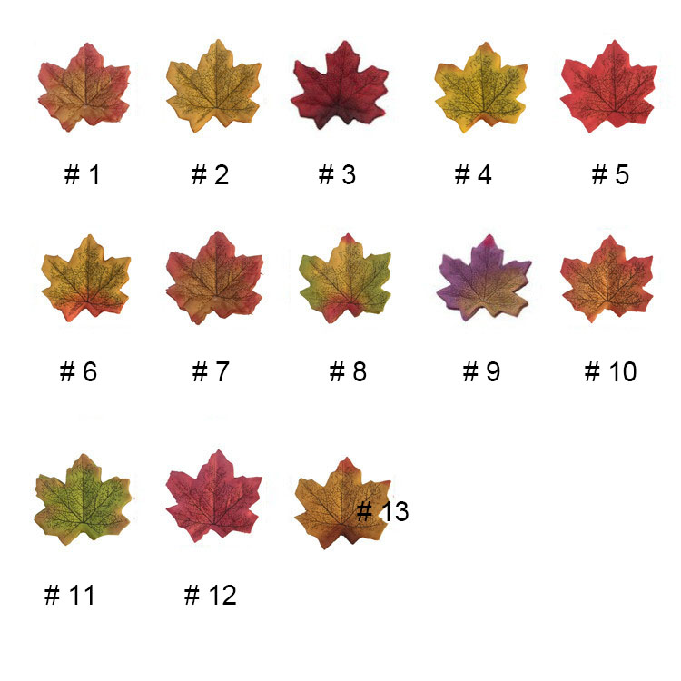 Thanksgiving Autumn Leaf Decoration Silk Fall Artificial Maple Leaves