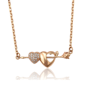 45642 Xuping high quality 18k gold plated fashion shock-like heart shape necklace
