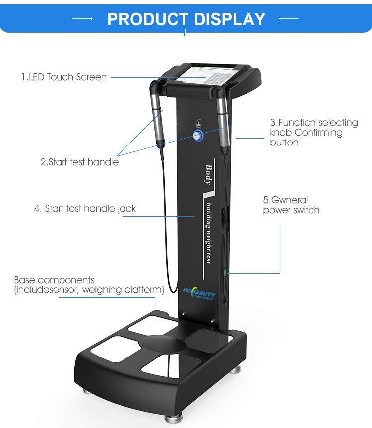 Bmi machine prix analyseur de graisse professionnel analyseur de composition corporelle avec imprimante