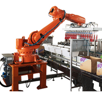 Factory price automatic machine robot case packer for juice bottle in beverage industry