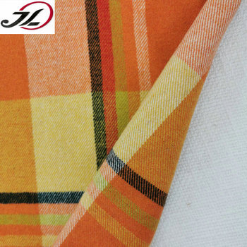 Low price poly wool blend yarn dyed check plaid tweed fabric for overcoat