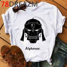 Популярная аниме Fullmetal футболка с рисунком «Алхимик», мужские футболки в стиле Харадзюку, хип-хоп футболки с графическими принтами для мужч...(Китай)