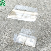 PVC plastic pack folding transparent soft clear packing box wholesale