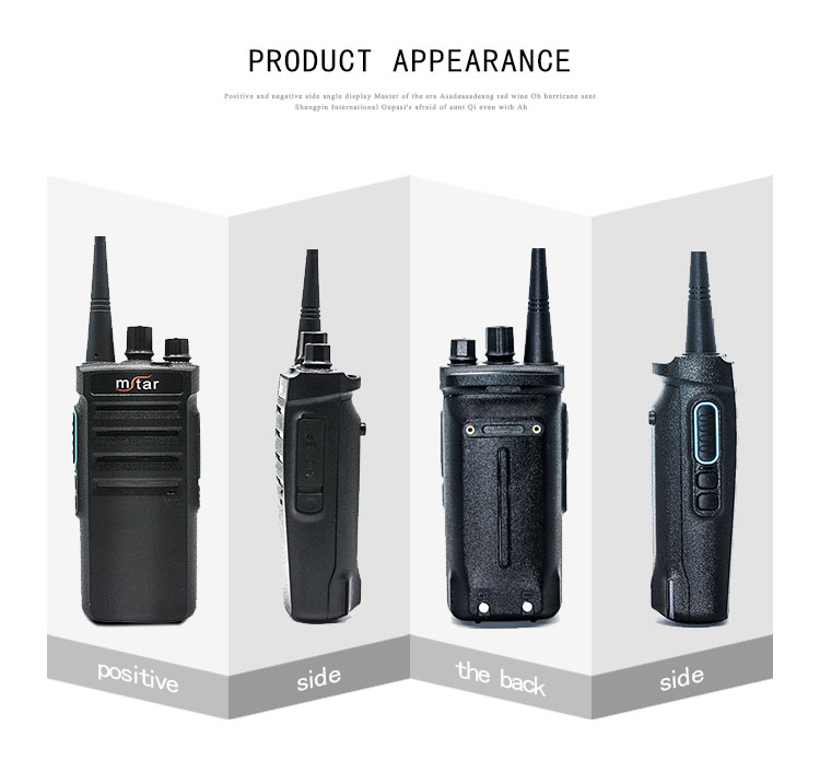 Professional mini two way radio walkie talkie 3km for restaurant