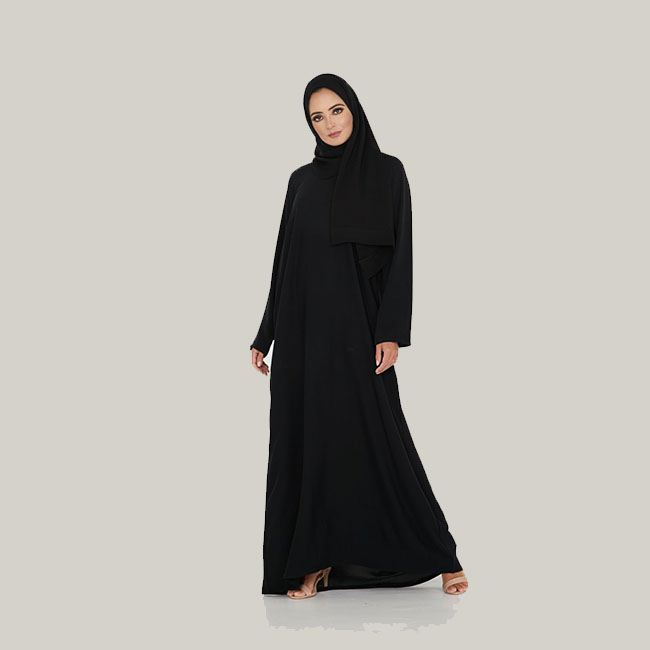Georgette Abaya Kaftan Simple Design Abaya