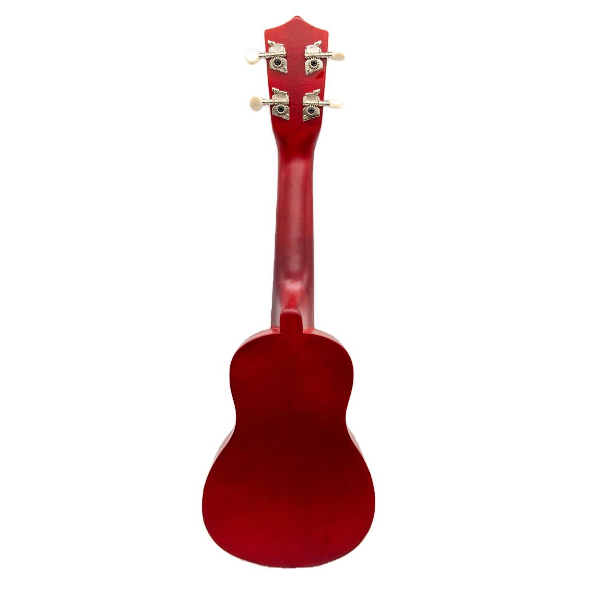 Licht Gewicht Custom gitarre Rot Bariton Solide Mahagoni Ukulele