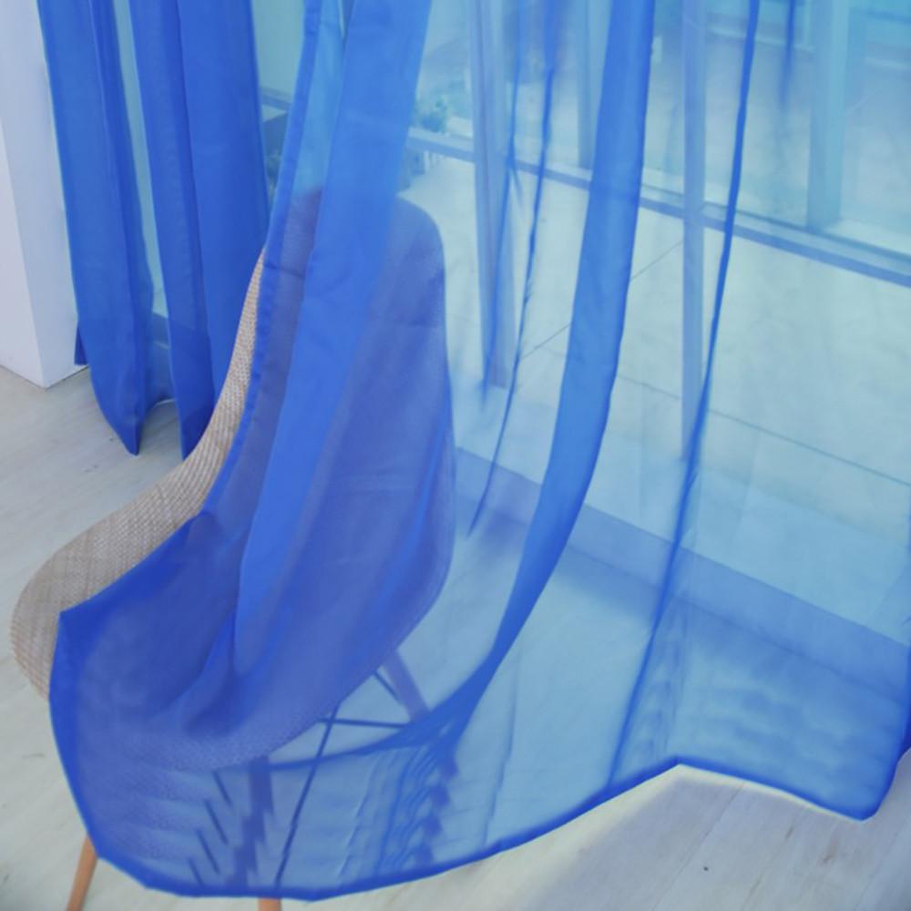 1 шт. оконный занавес чистый цвет тюль дверь драпировка Панель Прозрачный шарф подзоры микро-прозрачный легкий вес Марля трансмиссия(Китай)