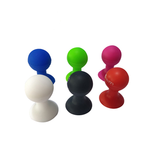Handy Mini 3D Pvc Mobile Phone Silicone Sucker Ball Car Holder Display Stand