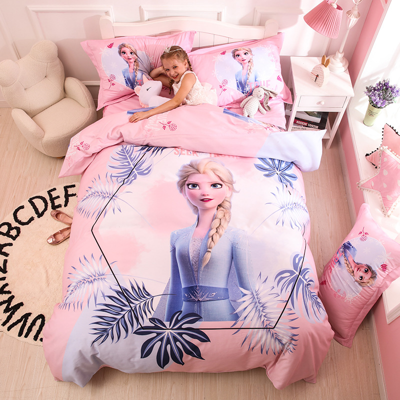 factory sale 3Ddigital printing cotton Frozen Princess kid teenaged design disperse printing bedding <strong>sets</strong> <strong>bed</strong> linen bedding <strong>set</strong>