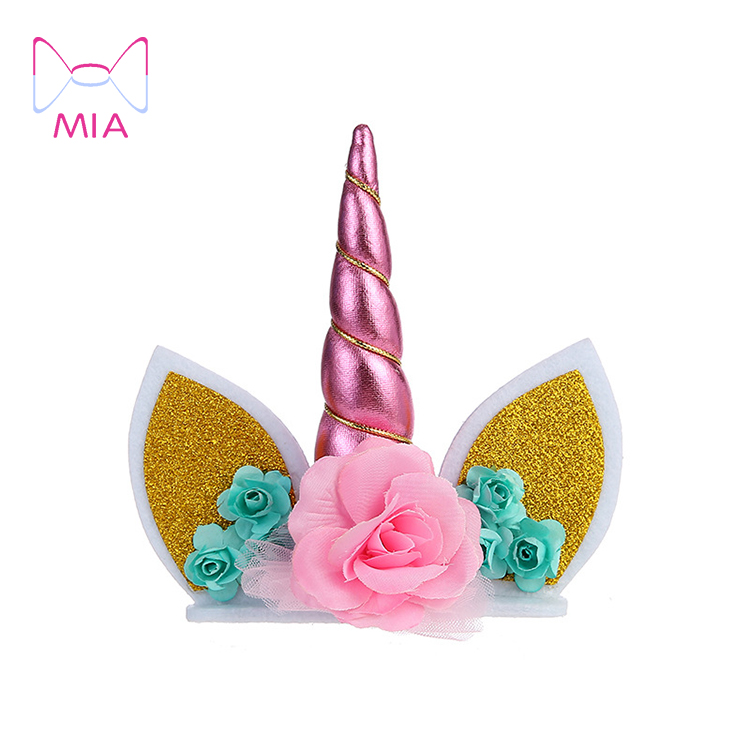 Horn Unicorn <strong>Cake</strong> Topper Unicorn <strong>Cake</strong> Decorations <strong>Wedding</strong> <strong>Cake</strong> Toppers Kids Birthday Party Unicorn <strong>Accessories</strong>