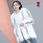 high quality and Hot Selling White Fox Fur coat, Women's Fashion Coat, Winter Coat Female Fur Outerwear