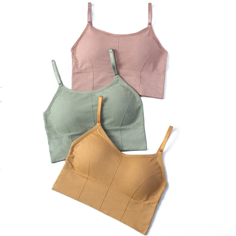 Hot Sale Japan's original single-hearted fairy bear warm chest-wrapped brassiere seamless large elastic thread cotton brassiere