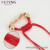 76999 Xuping charm Wholesale Price Red Rope Braided zircon Bracelet with Bow C218104
