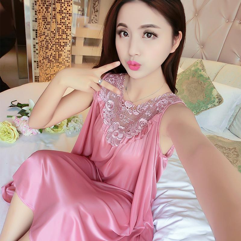 2020 kızlar Damen saten pijama gece elbisesi elbise kadınlar Robe pijama ipek pijama