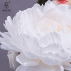 Graphic Customization AZ136 White Giant Artificial Peony Flower For Wedding Flower Wall