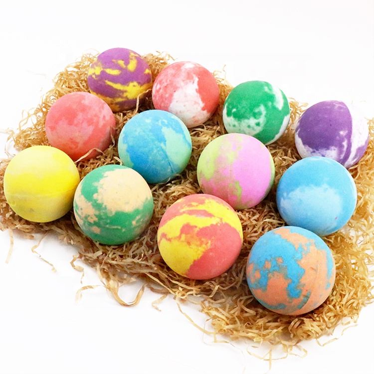OEM Private Label Custom Logo Natural Rich Bubble Relaxing Natural Organic Bubble Colorful CBD Hemp Fizzy Bath Bombs