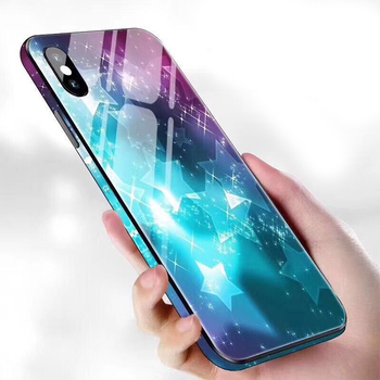 2019 Custom Full Edge Color Printing Glass Cell Phone Covers for iPhone X XS XR fundas para celulares