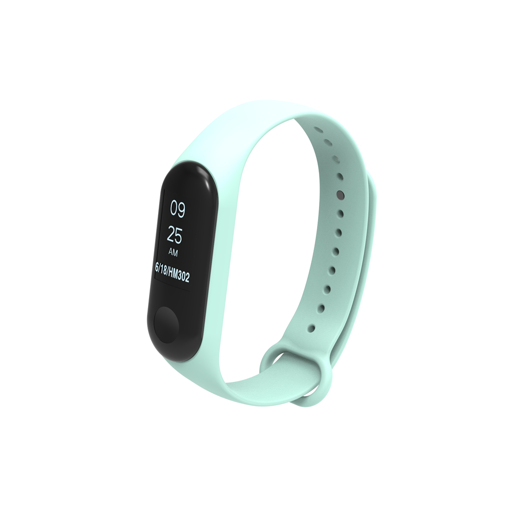Holdmi cheap price 3022 series sea blue color silicone mi band 4 strap for xiaomi band 3 and band 4