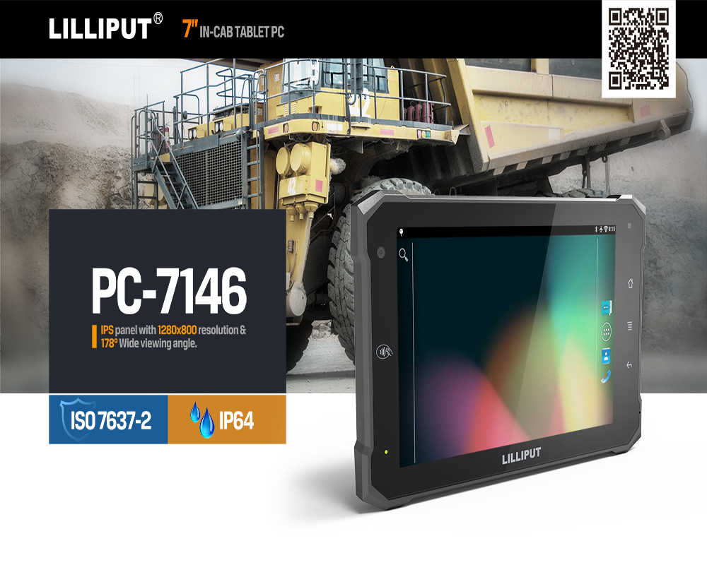 7 Inch Tablet PC waterproof tablet pc with NFC WIFI Bluetooth 3G 4G Camera RS232 Android industrial pc
