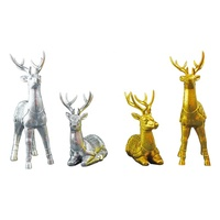 Modern home decor Desktop Gift multicolored art resin animal figurines deer for home office decoration