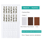 Multifunctional Living Room Divider Glass PVC Accordion Doors Fast Delivery