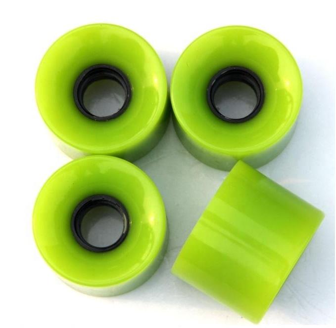 Set of 4 60*45mm PU Skate Wheels Pro Skateboard Wheels For Cruising