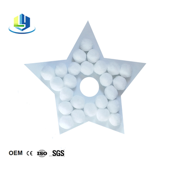 Alternative to Sand and Glass Fiber Material Filter Ball for Swimming Pool