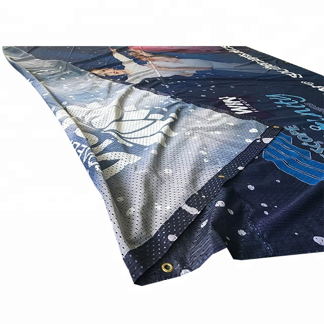 Free Sample <strong>Cloth</strong> / Polyester / Dye Sublimation Fabric Mesh Flex <strong>Banner</strong> <strong>Printing</strong>