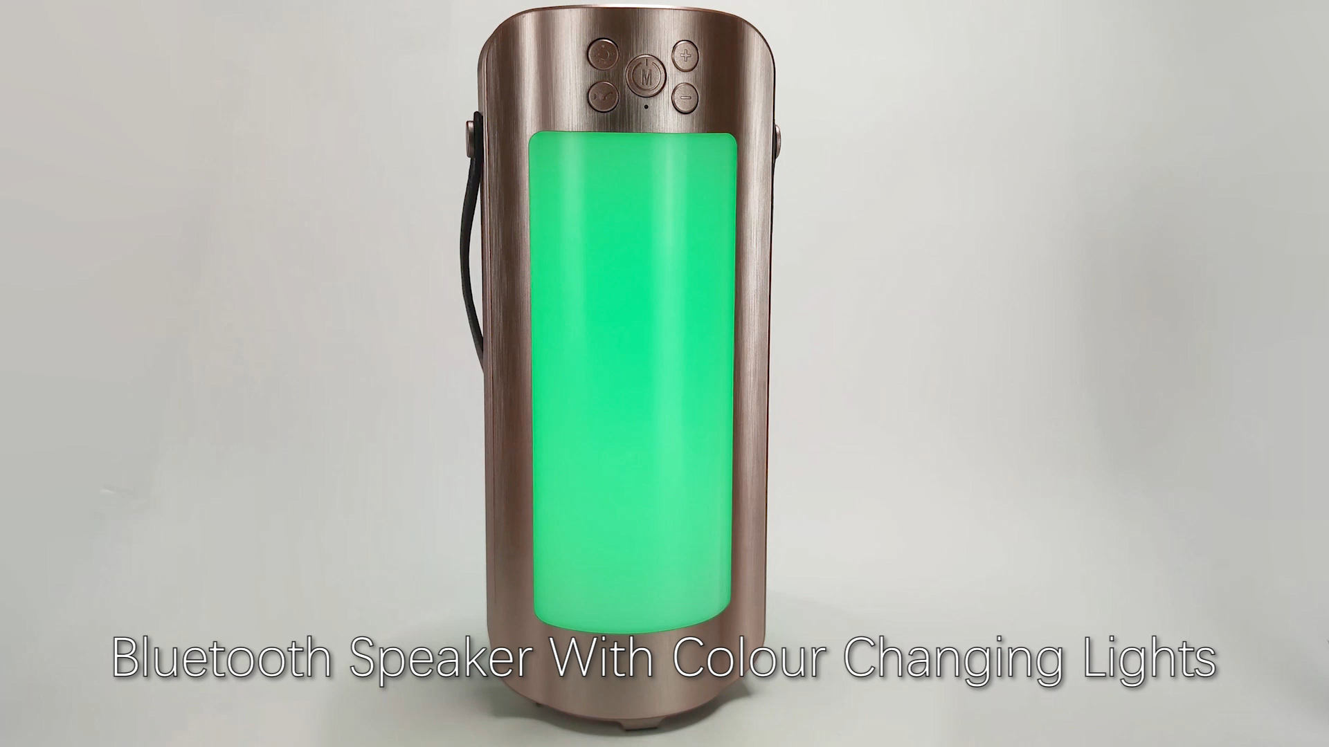 Portable Rechargeable LED TWS Bluetooth Lantern Speaker,With Radio/TF/AUX and 10 Color LED Themes, Suitable For Camping