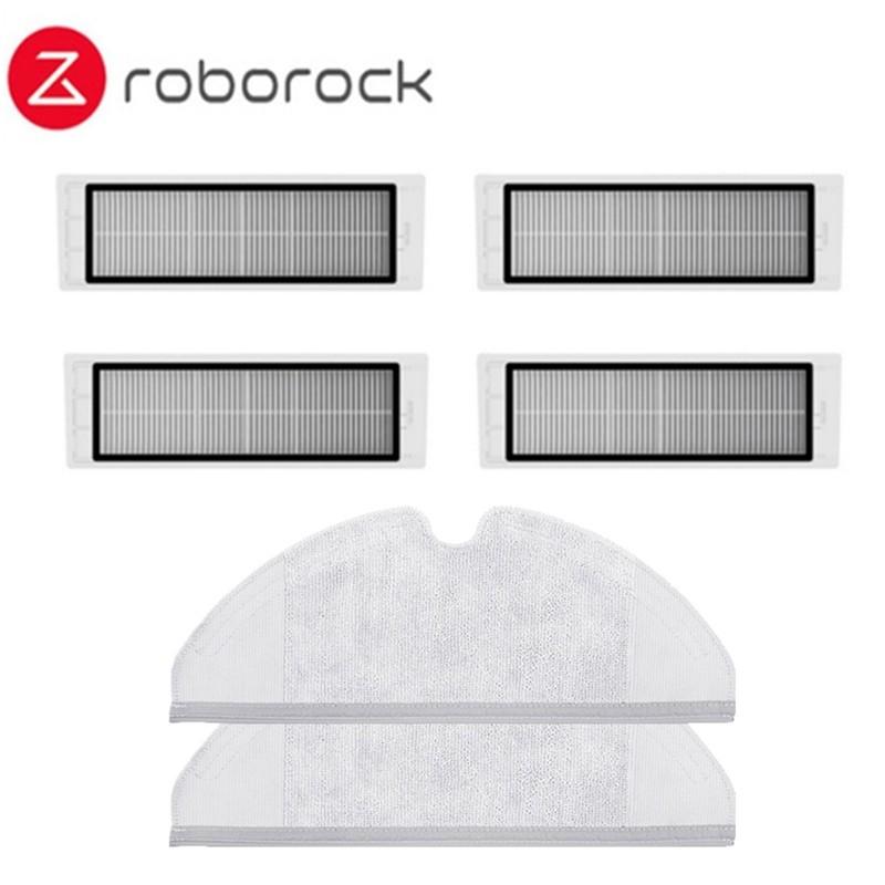 Аксессуары для Xiaomi Roborock S50 Запчасти для пылесоса Xiaomi HEPA фильтр вставка из ткани для швабры основная щетка боковая щетка фильтр водяного бака(Китай)