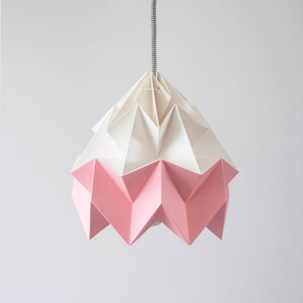 Handmade Modern LED Pendant Origami Lamp DIY Paper Light Shade