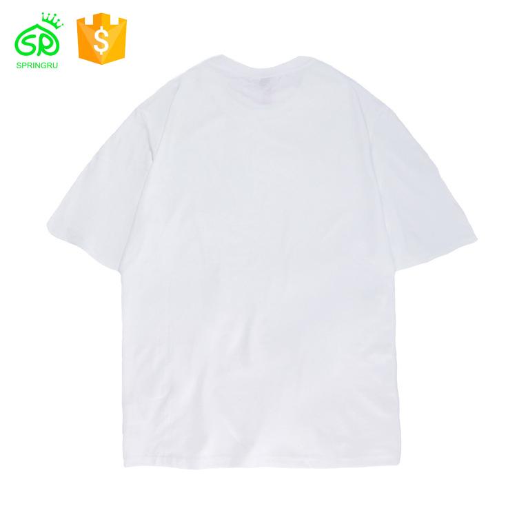 Leer Mode Groß Plain T-shirt Weiß Organische Baumwolle T Shirts