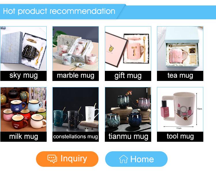 Creative Girl Tools Beauty Kit Specials Nail Polish Handle Tea Coffee Cup ceramic beast Mug for women Gift