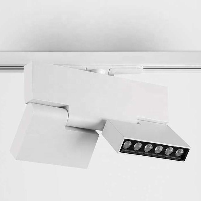 Led  Linear Spot Track Lights 12X2W Rotatable Rail Mounted Led Rail Light
