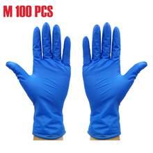 100 шт. Нескользящие одноразовые перчатки мягкие резиновые пылезащитные антибактериальные перчатки для домашнего садоводства, кухни, очист...(Китай)