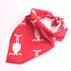 Wholesale Fashion 100% Cotton Dog Christmas Elk Bandana