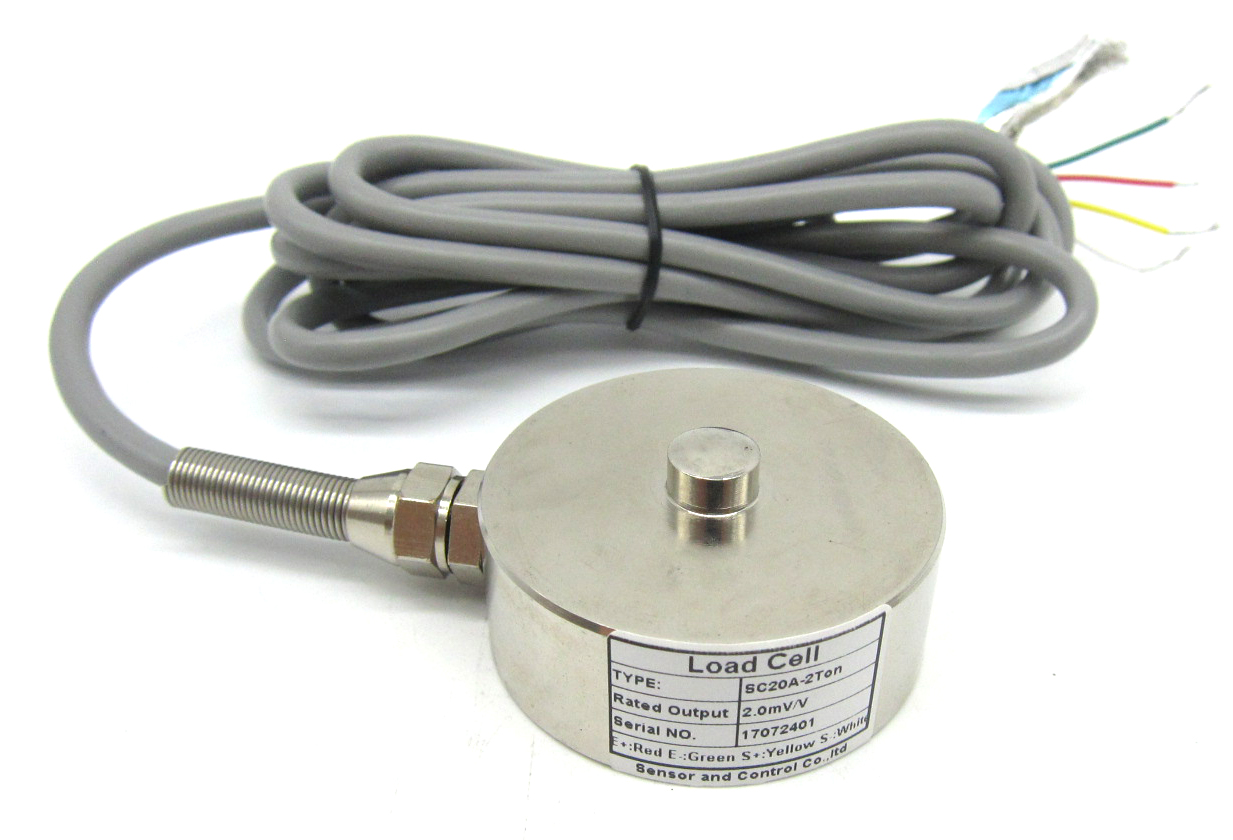 Cheap alloy steel pancake compression round button type load cell 2 ton 3  ton 5 tons 20 ton 30 ton, View button type load cell, SNC Product Details  from Shenzhen Sensor And