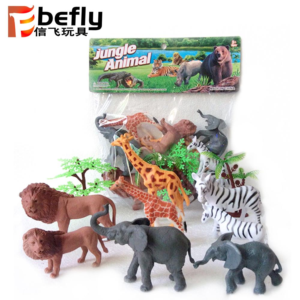 Animaux En Plastique Jouet enfants en plastique jouet forêt modèle animal sauvage ensembles avec arbre  - buy ensembles d'animaux en plastique,ensembles d'animaux en plastique de