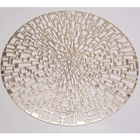 Placemat Pvc Placemat Table Mat/Placemat Eco-Friendly Stocked Gold Pvc Placemat For Decoration