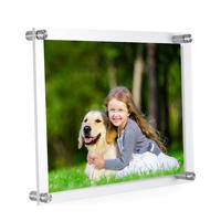 Hot Sell Acrylic Wall Mount Photo Frame to Use As Family Picture Frame 8X10 inch