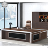 Foshan office furniture new design luxury office desk L shape executive wooden modern wood veneer CEO office table desk