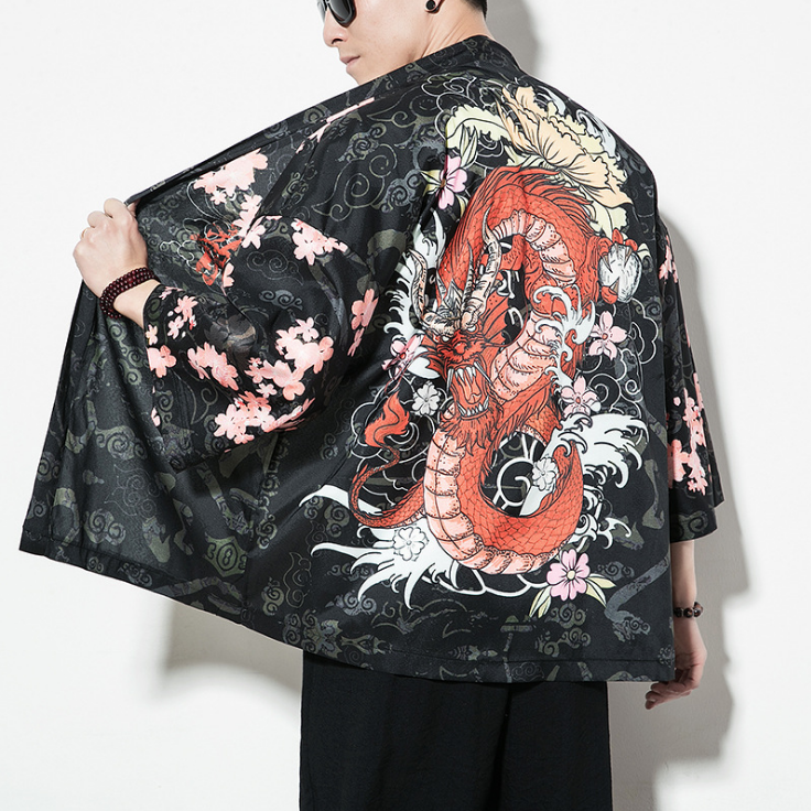 Japonés Kimono Hombres Chaqueta De Punto For Hombre De La