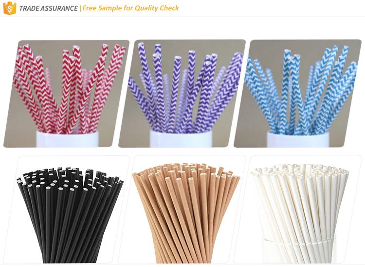 FDA LFGB certificado ISO22000 fábrica impreso China potable paja de papel