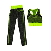 Woman seamless jacquard USA flag crop top bra legging suit sport clothes fitness yoga wear