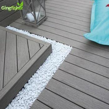 Composite Grey Wood Deck Floor Covering