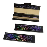 Private labeled custom shinning silver cigarette smoking hemp rolling paper