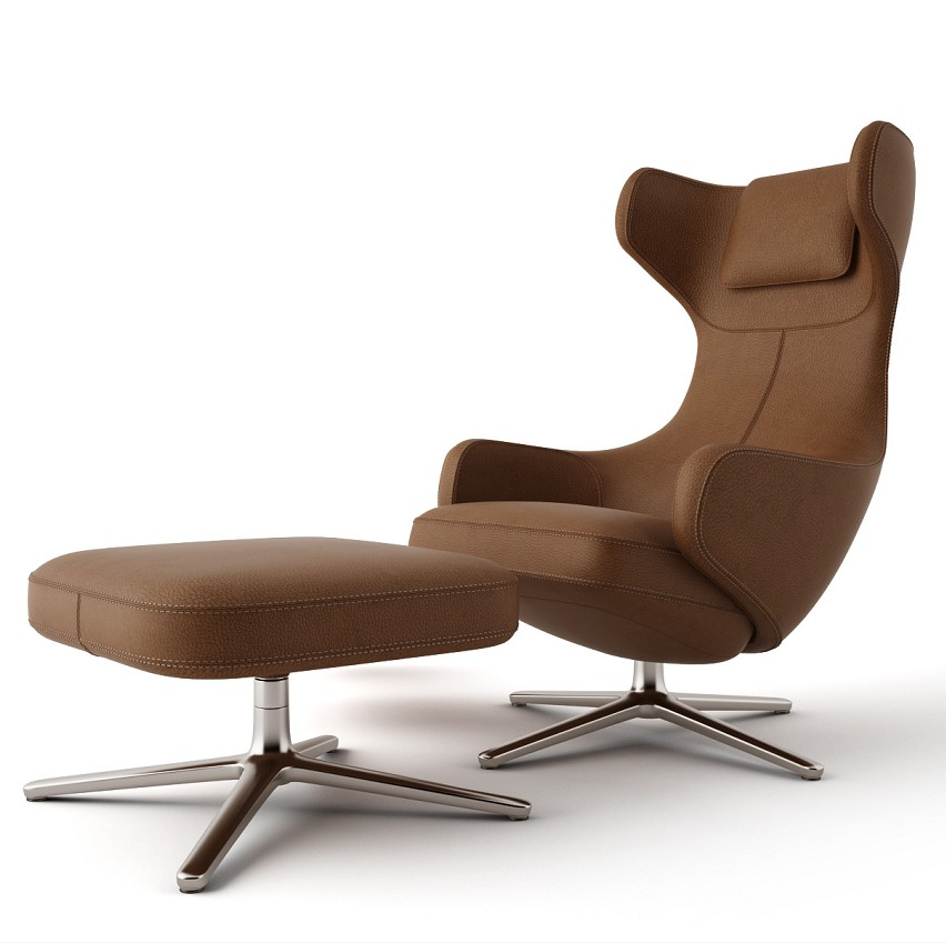Modern style living room leisure high back cafe leather recliner leisure lounge chaise chair for living room