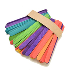 Arts Wooden Sticks Quality Popsicle Sticks DIY Arts And Crafts Flat Popsicle Ice Cream Wooden Sticks